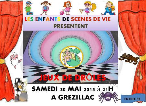 affiche enfants Grézillac 2015